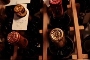 organized wine cellar