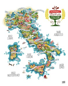 map of italian wine