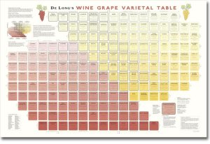 wine grape varietals chart